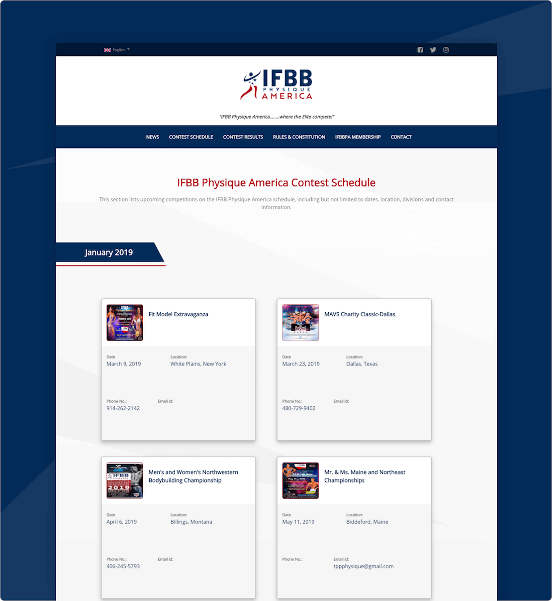 Ifbb Physique America Website