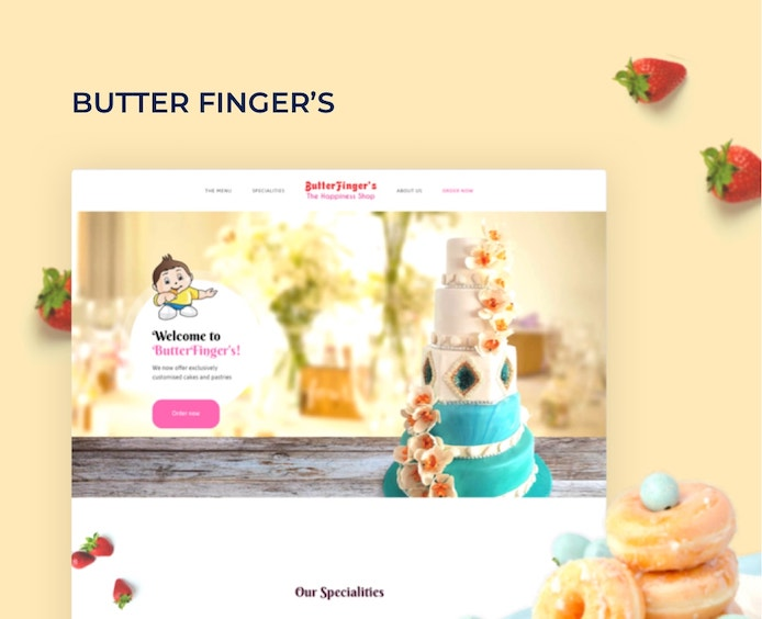 butterfingers website design
