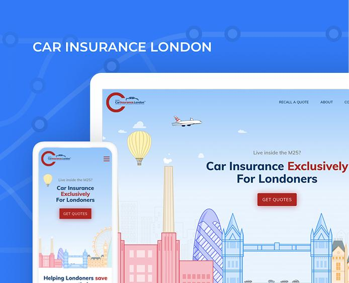 car insurance london website design