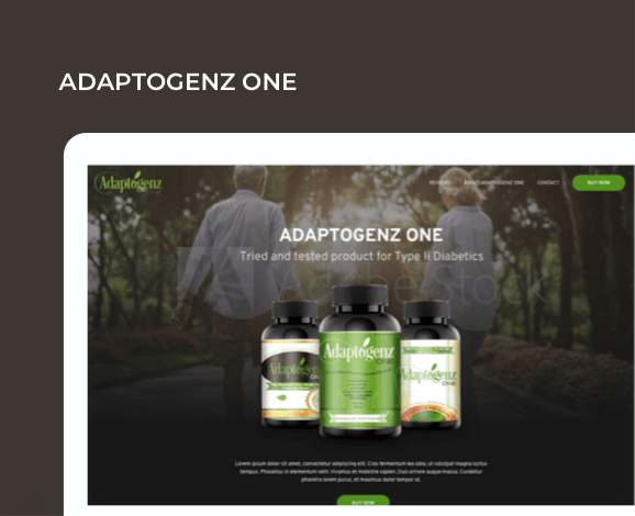 adaptogenz website development